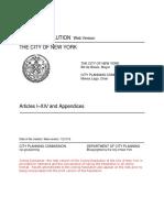 NYC zoning resolution