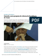 Entenda a Nova Proposta de Reforma Da Previdência de Temer _ Brasil _ EL PAÍS Brasil