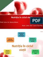 Nutritia in Ciclul Vietii