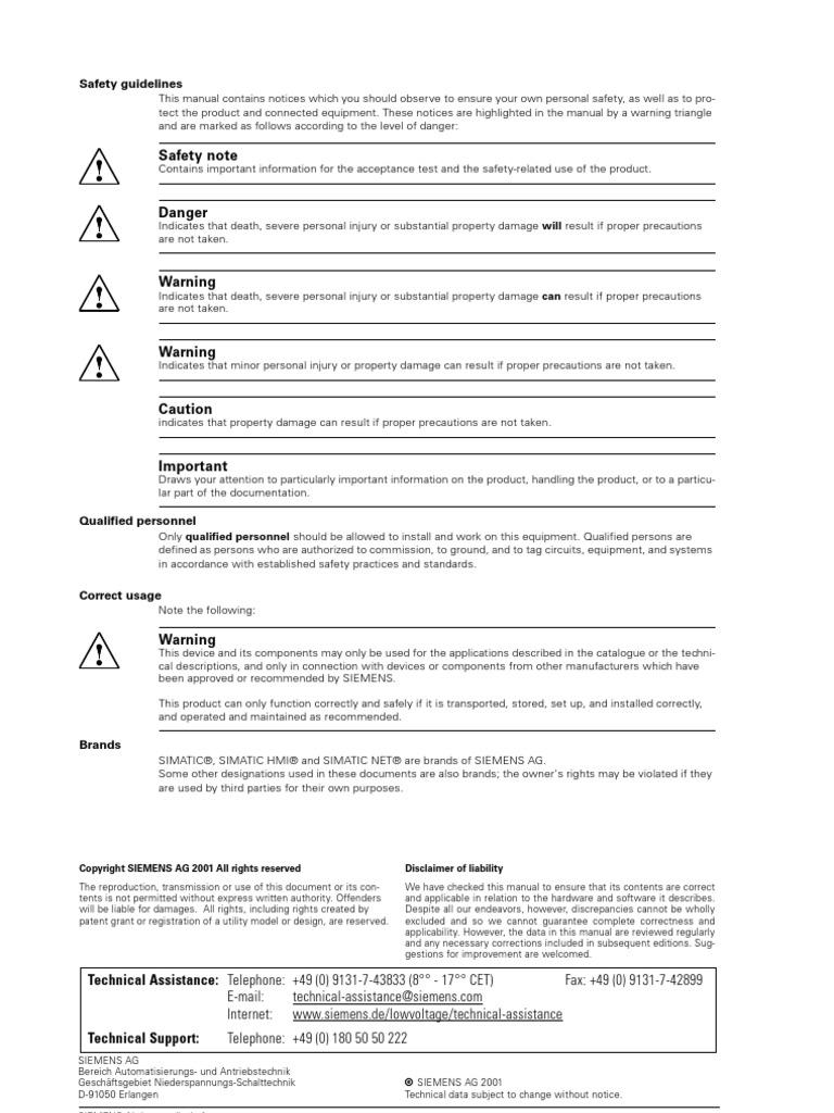 Siemens 3RV1021-4DA10 Manual Starter and Enclosure Open Type 20-25 FLA Adjustment Range