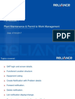 PM-Module 1 - Plant Maintenance & Permit to Work Management