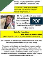 Official Monster Raving Loony By-Election Propaganda Mark Beech Rushall-Shelfield 11th November 2010