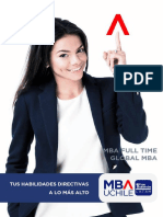 Brochure MBA UChile Full Time Global MBA Web 2019