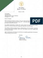 Letter to President Trump from House Speaker Pelosi on the SOTU