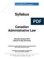 Syllabus Administrative May 2019