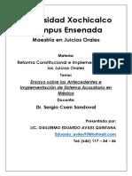 Ensayo sobre los Antecedentes e Implementacion de Sistema Acusatorio en Mexico.docx