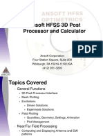 Ansoft HFSS 3D Post Processor and Calculator.ppt