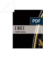 E BIKE Manual Del Propietario