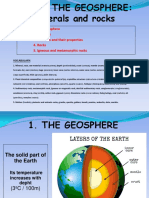 Unit 3 the Geosphere Minerals and Rocks With Answers