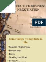 Effective Business Negotiation