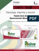 Tarjeta Bolivar Soberano