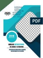 Unan Managua Guia Auto Estudio Lengua Literatura 2019