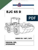 Manual Operador Ejc 65 d Serie No 3467 Procedimientos Generales Seguridad Controlles Instrumentos Pruebas Frenos
