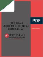 Programa Académico Técnicas Quirúrgicas
