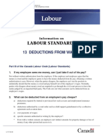 CanadaLabourCode - Pamphlet 13 - Authorized Deductions