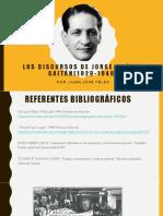 Los Discursos de Jorge Eliécer Gaitán(1929-1948)