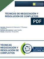 4.3 Técnicas y Resolución de Conflictos. Lady Castillo