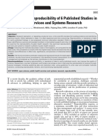 Harris Et Al (2018) Examining the Reproducibility of 6 Published Studies in Public Health Services and Systems Research.