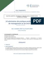 14 séminaires de pratique professionnelle de management et de droit aérien