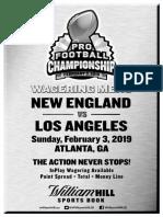 William Hill Super Bowl 53 Prop Bets-Nevada