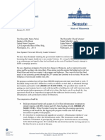 Bipartisan Letter from Senator David Tomassoni and other Iron Range lawmakers
