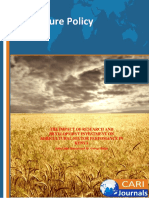 The Impact of Research and Development Agriculture