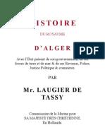 Histoire Royaume D'Alger