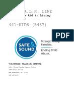 2018 talk line volunteer training manual