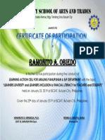 LAC Certificate 2019