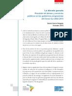 La Década Ganada. Provisión de Bienes y Servicios Públicos en Los Gobiernos Progresistas Del Cono Sur 2002-2013 Noviembre 2013