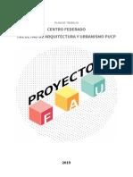 Plan de trabajo Proyecto Fau - CEFAU 2019