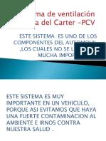 Sistema de Ventilación Positiva Del Carter -PCV