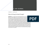 Why is It Wrong to Punish Thought