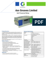 Crompton GReaves Relay Overcurrent