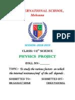 12th Physics Project PDF File