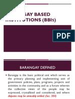 1. Brgy Organizational Structure & Bbis