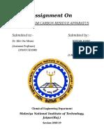 Report on Carbon Resedual