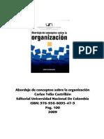 Abordajes de Conceptos Sobre La Organización