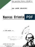 Tolstoi Nuevas Orientaciones