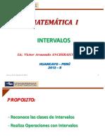 Semana 1 - Intervalos - Operaciones - Matemática 1