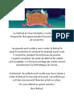 Le Festival Du Livre Scholastic