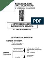 CriteriosFinancieros_Presupuesto de Capital