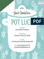 3041 Printable Potluck Invitation 2 Ex