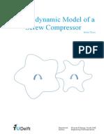 Thermodynamic Model of a Screw Compressor