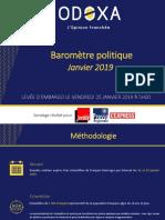Le baromètre politique Odoxa, 25 janvier 2019