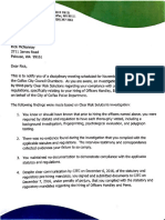Vanek findings Letter