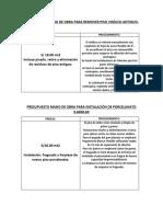 Presupuesto Mano de Obra Para Remoción de Piso Vinílico 1