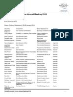 Davos Participant List