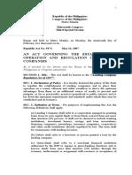 Lending Company Regulation Act of 2007.rtf