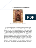 In the Praise of Sultan Iltutmish of Delhi Kingdom